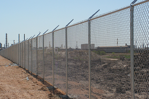 Outdoor chain-link fence