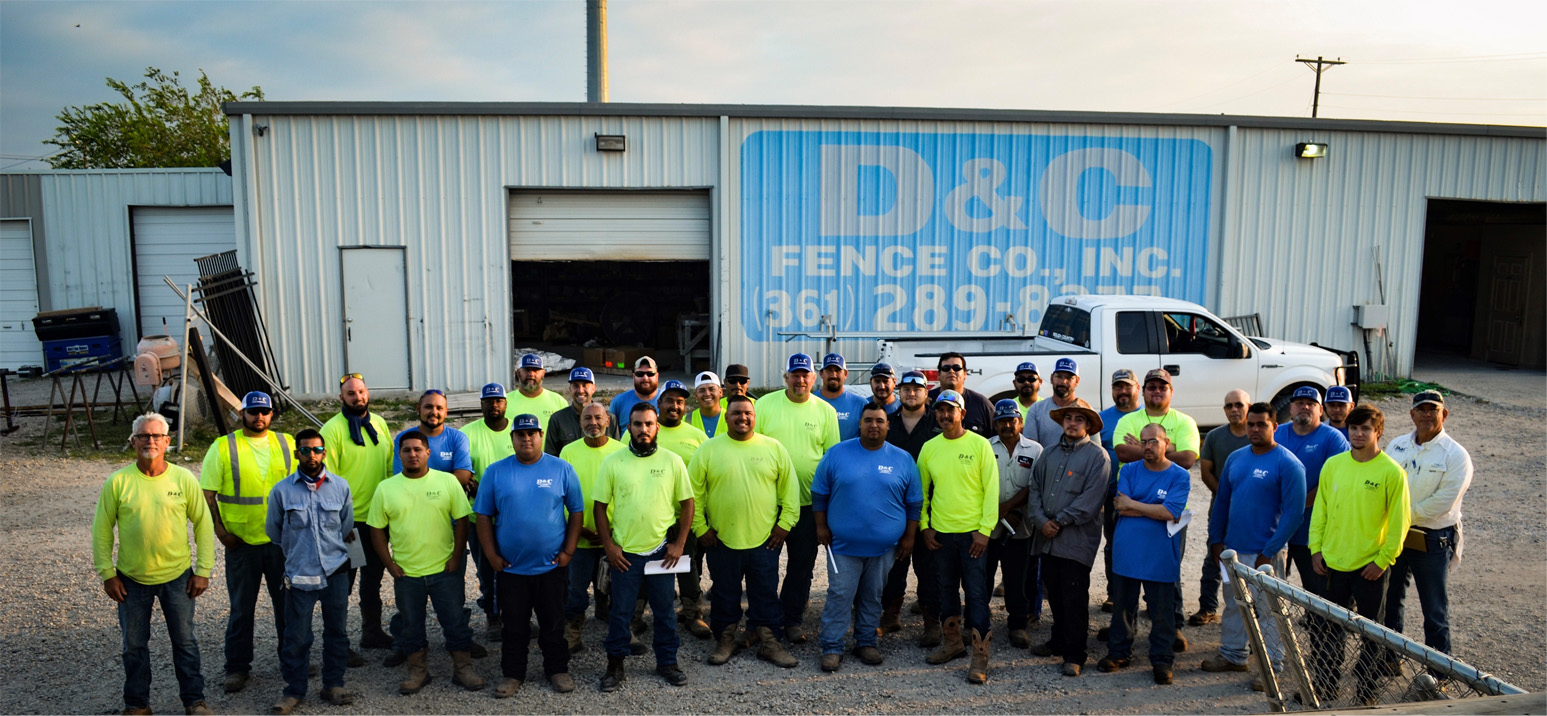 D&C Fence employee group photo