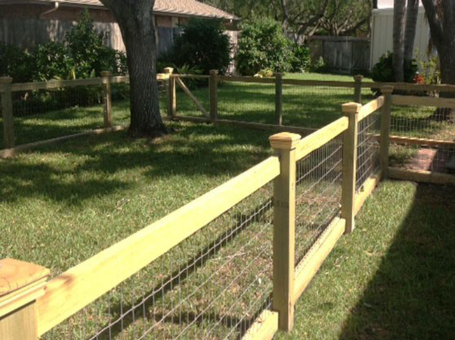 Wooden outdoor fence