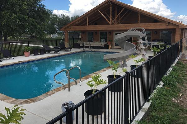 Outdoor Aluminum Pool Fence in Corpus Christi, Texas