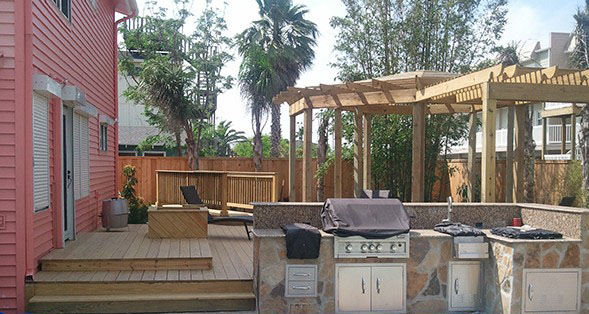 Outdoor deck in Corpus Cristi, TX