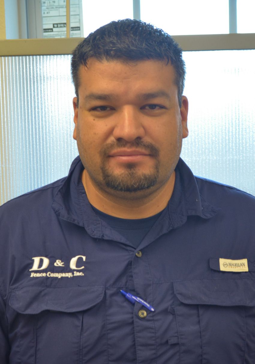 Arturo Garcia, Estimator at D&C Fence Co in Corpus Christi, TX