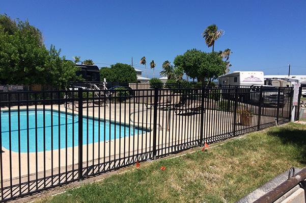 Outdoor Aluminum Fence in Corpus Christi, Texas