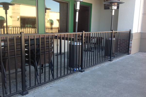 Industrial Aluminum Fence Repair Services by D&C Fence Company