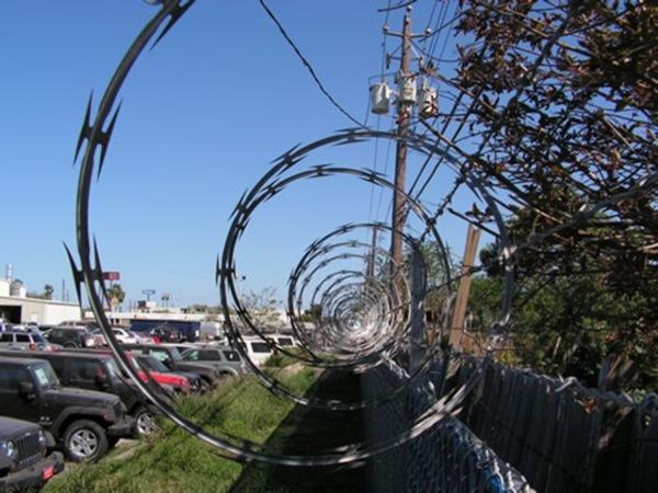 Razor Ribbon Fencing Installation in Corpus Christi, TX